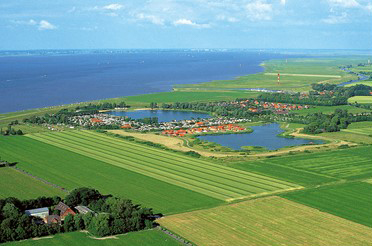 Luftbild von Cuxhaven Nordsee Wirtschaftsjunioren Cuxhaven