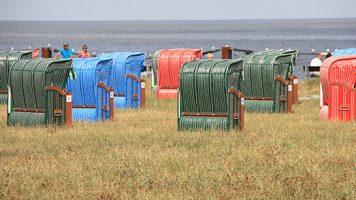 Wirtschaftsjunioren Cuxhaven Strandkörbe mit Blick auf Nordsee